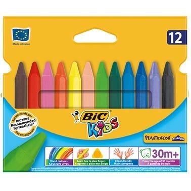 Bic Plastidecor 12 Renk Üçgen Pastel Boya Renkli